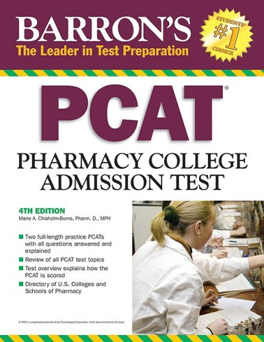 9780764140570: Barron's PCAT: Pharmacy College Admission Test (Barron's: The Leader in Test Preparation)