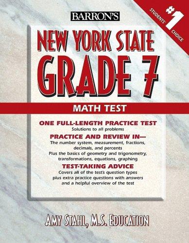 9780764140709: Barron's New York State Grade 7 Math Test