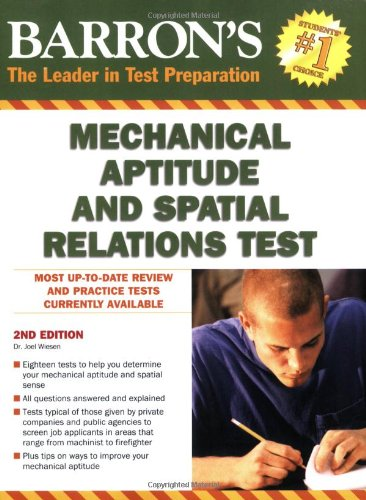 9780764141089: Barron's Mechanical Aptitude and Spatial Relations Test