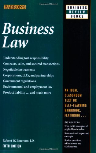 9780764142406: Business Law (Barron's Business Review Series)