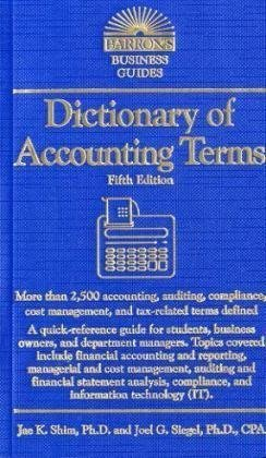 9780764143106: Dictionary of Accounting Terms (Barron's Business Dictionaries)