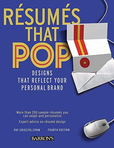 9780764143502: Resumes That Pop!: Designs That Reflect Your Personal Brand