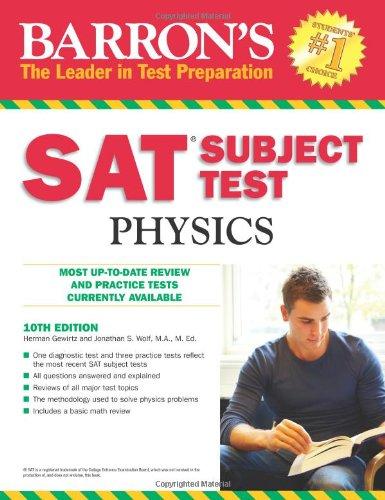 9780764143533: Barron's SAT Subject Test Physics