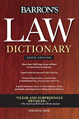Barron's Law Dictionary (Barron's Law Dictionary (Quality))