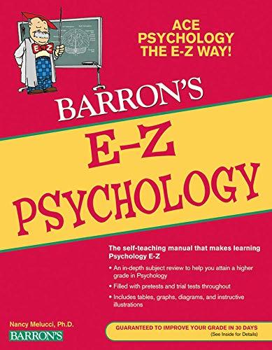 9780764144622: E-Z Psychology (Barron's E-Z Series)