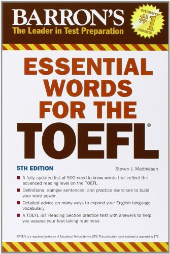 9780764144776: Essential Words for the TOEFL (Barron's Essential Words for the TOEFL)