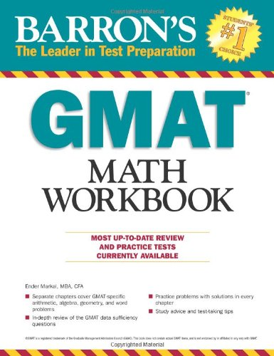 9780764145346: Barron's GMAT Math Workbook