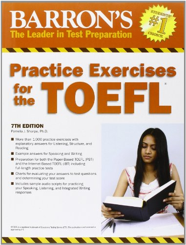 9780764145667: Barron's Practice Exercises for the TOEFL: Test of English As a Foreign Language
