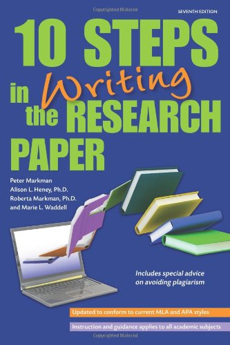 9780764145988: 10 Steps in Writing the Research Paper (Barron's 10 Steps in Writing the Research Paper)