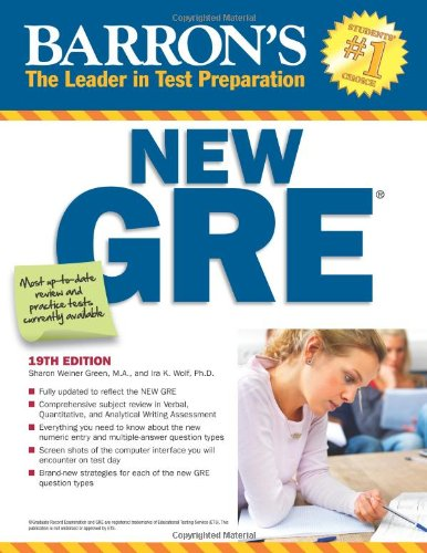 9780764146169: Barron's New GRE, 19th Edition (Barron's GRE)