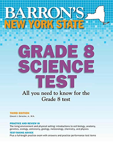 9780764146213: Barron's New York State Grade 8 Science Test, 3rd Edition