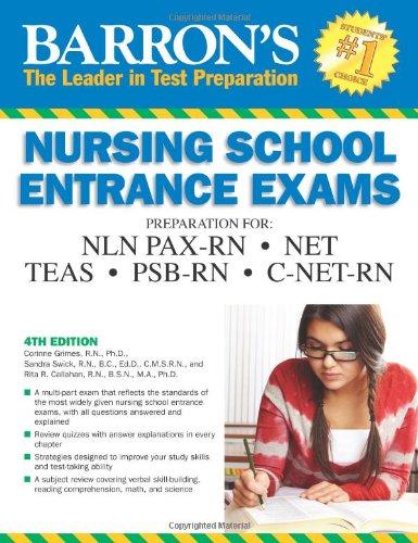 9780764146688: Barron's Nursing School Entrance Exams