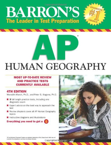 9780764146992: Barron's AP Human Geography, 4th Edition (Barron's Study Guides)