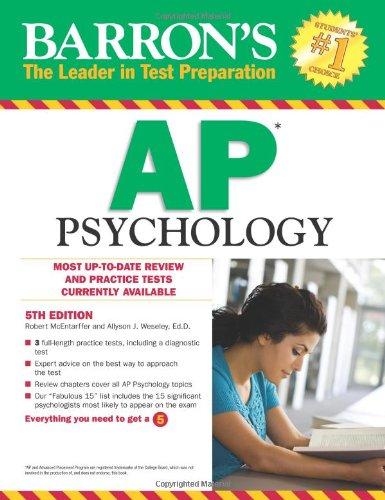 9780764147012: AP Psychology (Barron's Study Guides)
