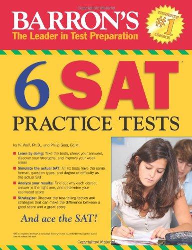 9780764147234: Barron's 6 SAT Practice Tests