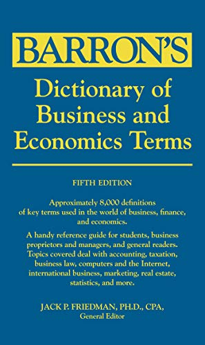 9780764147579: Dictionary of Business and Economics Terms (Barron's Business Dictionaries)