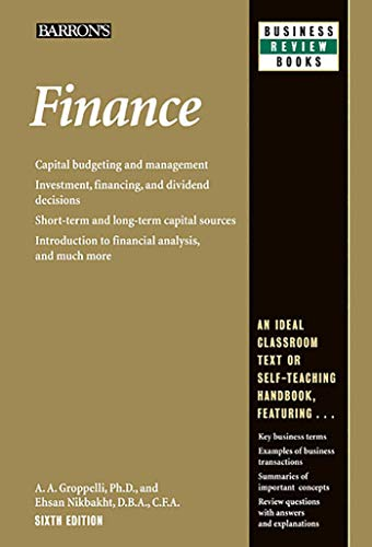9780764147593: Finance (Barron's Business Review Series)