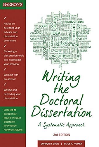 9780764147876: Writing the Doctoral Dissertation: A Systematic Approach