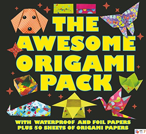 9780764167263: The Awesome Origami Pack: With 50 Sheets of Origami Paper, Plus Waterproof and Foil Papers