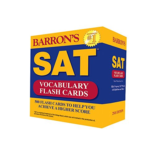 9780764167546: Barron's SAT Vocabulary Flash Cards, 2nd Edition: 500 Flash Cards to Help You Achieve a Higher Score