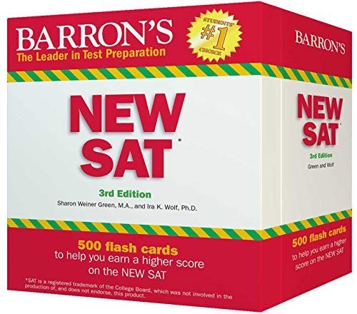 9780764167782: Barron's New SAT Flash Cards, 3rd Edition: 500 Flash Cards to Help You Achieve a Higher Score