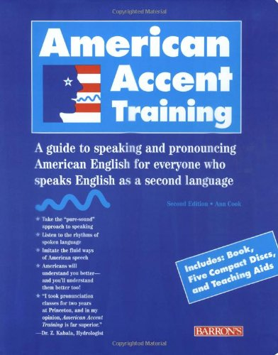 9780764173691: American Accent Training American Accent Training [With Book and 5 CD's] (American Accent Traning)