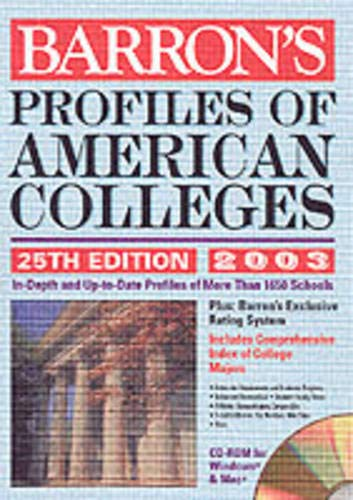 Profiles of American Colleges with CD-ROM: 2004 Edition (Barron's Profiles of American ...
