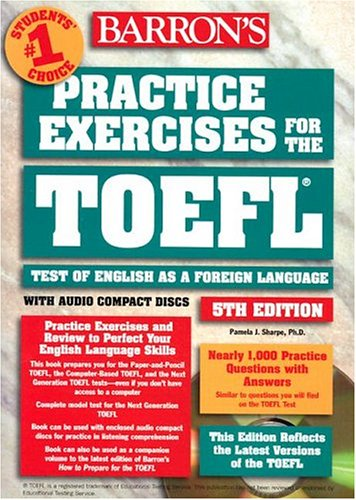 9780764175121: Practice Exercises for the TOEFL with Audio CD (Barron's Practice Exercises for the Toefl)