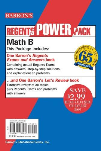 9780764175329: Regents Math B Power Pack (Regents Power Packs)