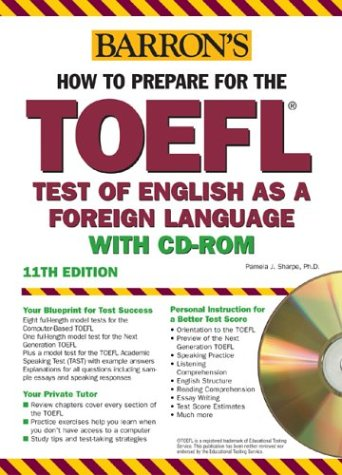 9780764175787: Barron's How to Prepare for the TOEFL with CD-ROM, 11th Edition
