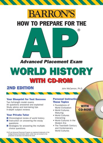 9780764178795: How to Prepare for the AP World History with CD-ROM (Barron's AP World History (W/CD))