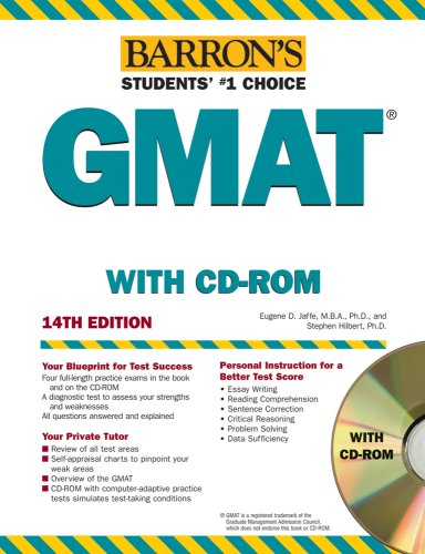 9780764179006: Barron's GMAT, 2008 with CD-ROM (Barron's How to Prepare for the Gmat Graduate Management Admission Test) 14th Edition