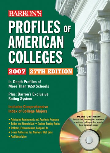 9780764179037: Profiles of American Colleges (Barron's Profiles of American Colleges)