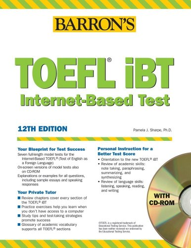 9780764179051: Barron's TOEFL iBT Internet-Based Test, 12th Edition