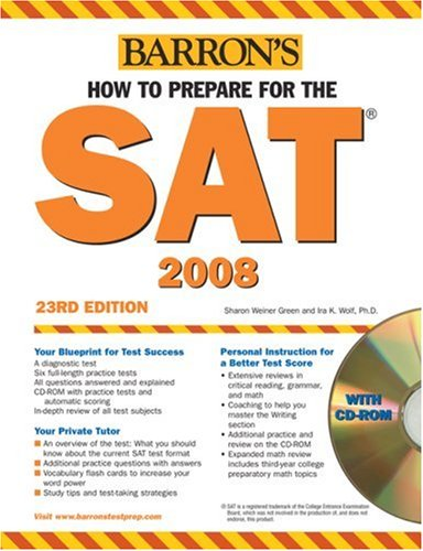 9780764179341: How to Prepare for the SAT with CD-ROM (Barron's How to Prepare for the Sat I)