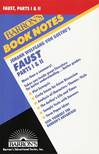 9780764191091: Johann Wolfgang Faust: Parts I and II (Barron's Book Notes)