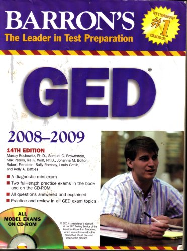 9780764193224: Barron's GED (Book & CD-ROM)