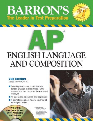 9780764193309: Barron's AP English Language and Composition with CD-ROM (Barron's AP English Language & Composition (W/CD))