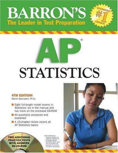 9780764193330: Barron's AP Statistics with CD-ROM