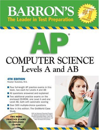 9780764193507: Barron's AP Computer Science with CD-ROM (Barron's AP Computer Science (W/CD))