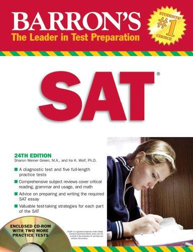 9780764193989: Barron's SAT, 24th Edition (Book & CD-ROM)