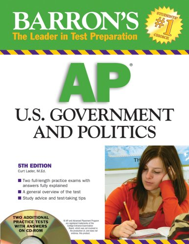 9780764194047: Barron's AP U.S. Government and Politics with CD-ROM (Barron's AP United States Government & Politics (W/CD))
