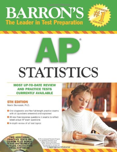 9780764195440: Barron's AP Statistics with CD-ROM (Barron's: The Leader in Test Preparation)