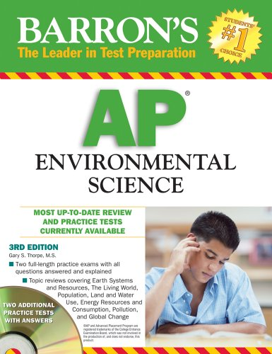 9780764195655: Barron's AP Environmental Science with CD-ROM (Barron's AP Environmental Science (W/CD))