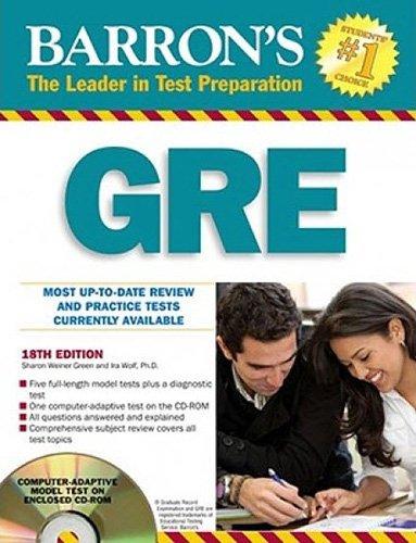 Barron's GRE: Graduate Record Examination - Weiner Green, Sharon; Wolf Ph.D., Ira K.