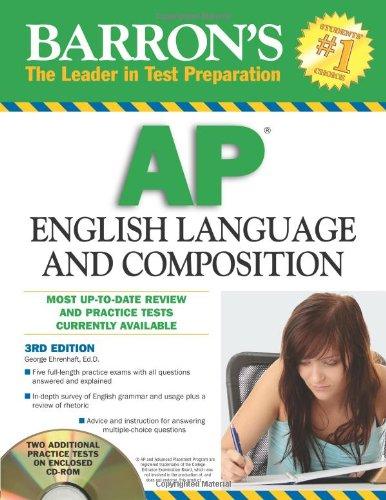 9780764196805: Barron's AP English Language and Composition with CD-ROM (Barron's Ap English Language & Composition)