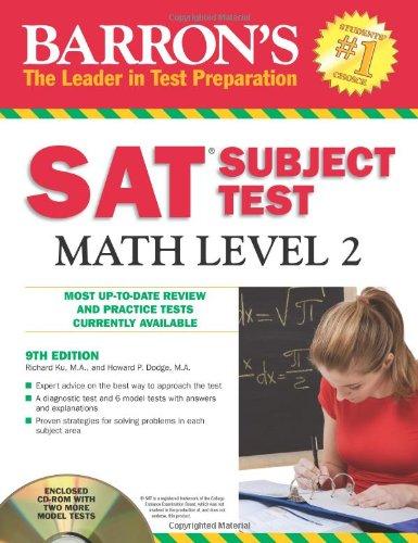 9780764196843: Barron's SAT Subject Test Math Level 2 with CD-ROM