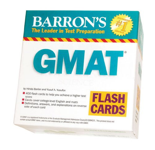 9780764196898: Barron's GMAT Flash Cards