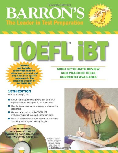 9780764196980: Barron's TOEFL iBT with CD-ROM and 2 Audio CDs (Barron's TOEFL IBT (W/CD))