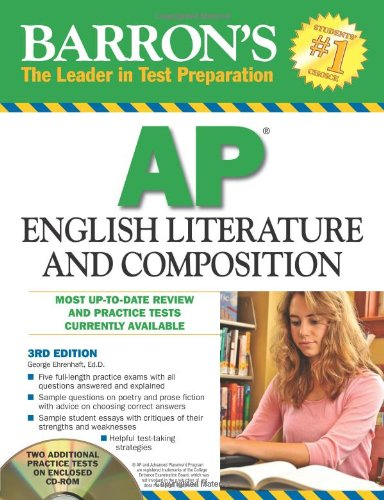 9780764197055: Barron's AP English Literature and Composition with CD-ROM (Barron's: The Leader in Test Preparation)